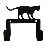 Cat At Play Black Metal Leash and Collar 2 Hook Holder