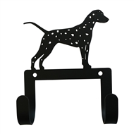 Dalmatian Black Metal Leash and Collar 2 Hook Holder