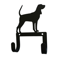 Hound Black Metal Leash and Collar 2 Hook Holder
