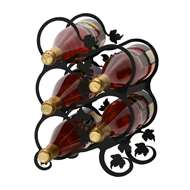 Grapevine 5-Bottle Rack - Black-Tabletop Style