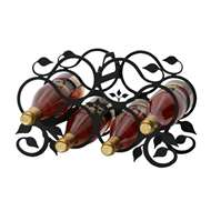 Leaf 6-Bottle Rack - Black-Tabletop Style