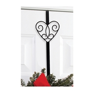 Heart Black Metal Wreath Hanger