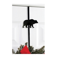 Bear Black Metal Wreath Hanger