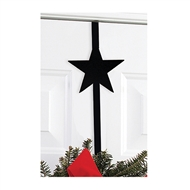 Star Black Metal Wreath Hanger