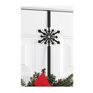 Snowflake Black Metal Wreath Hanger