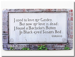 Magnet: Bachelor Button Poem