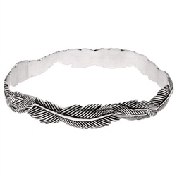 Grainger McKoy  Narrow Feather Bangle