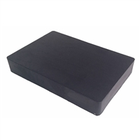 "RUBBER BENCH BLOCK  6"" x 4"" x 1"""