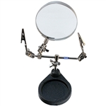 "DOUBLE CLAMP STAND WITH MAGNIFIER Lens 3-1/2""- Power  2X"