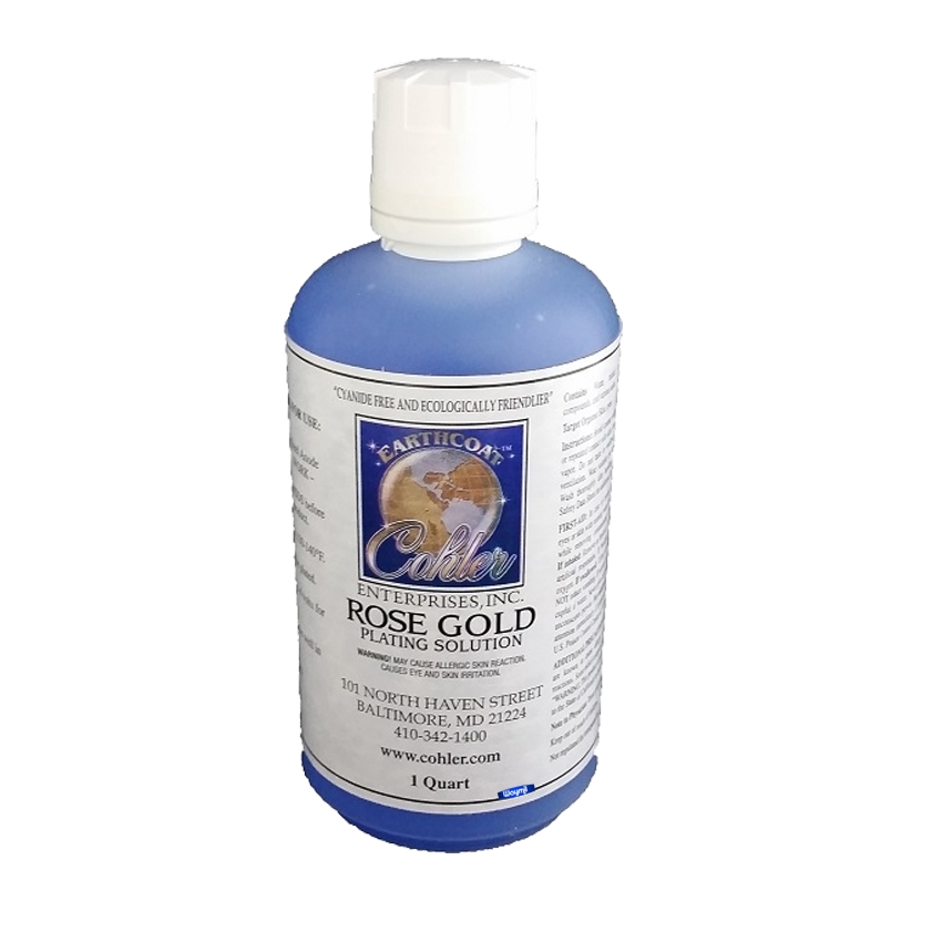 EARTHCOAT™ ROSE GOLD PLATING SOLUTION Rose Gold Plating Solution Cyanide  Free