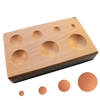 WOOD SHAPPING BLOCK Round Depressions