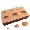 WOOD SHAPPING BLOCK Oval Depressions