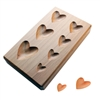 WOOD SHAPPING BLOCK  Hearts Depressions