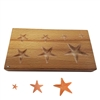 WOOD SHAPPING BLOCK Stars Depressions