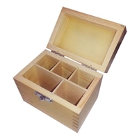 5 COMPARTMENTS WOODEN BOX