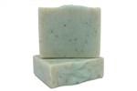 vegan soap for sensitive skin with aloe cocoa butter mango butter and eucalyptus spearmint fragrance