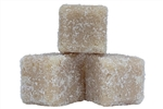 Preservative free sugar scrub cubes with coconut fragrance