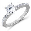 Breathless Desire French Pavé Diamond Matching Band