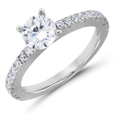 Breathless Desire French Pavé Diamond Engagement Ring