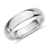 Platinum Cherish Comfort Fit Wedding Ring in Platinum or Gold 5mm