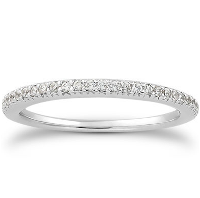 Luminary Moon French Pavé Diamond Wedding Band 0.21 ct. tw.