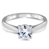 Platinum Celebration Solitaire Engagement Ring Four Prongs