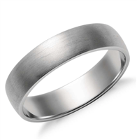 Platinum Spring Matte Classic Wedding Ring 5mm