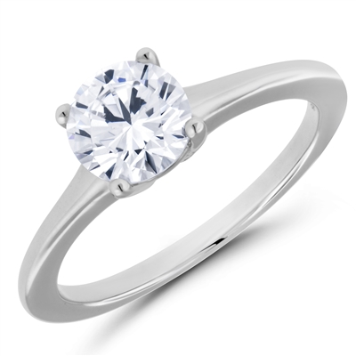 Dawn Star Solitaire Engagement Ring Four Prongs