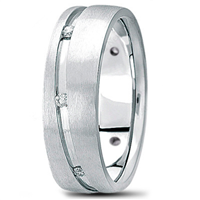 Diamond Prestige Channel-Set Wedding Ring in Gold or Platinum 1/3 ct. tw.