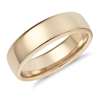 Golden Rush Modern Comfort Fit Wedding Ring in Yellow Gold 6mm