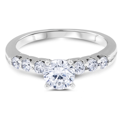 Aphrodite's Star Floating Diamond Engagement Ring F-G VS1-VS2