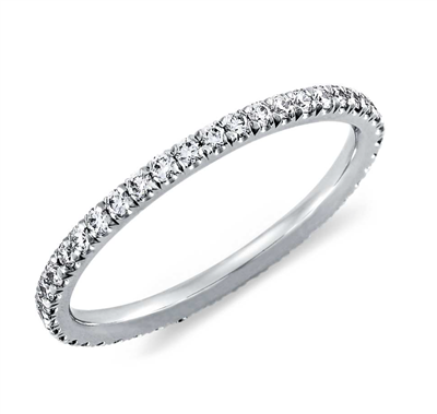 Ultimate Sparkle Pavé Diamond Eternity Ring in Platinum or Gold 1/3 ct. tw.