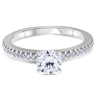 Destiny's Story French Pavé Diamond Engagement Ring F-G VS1-VS2