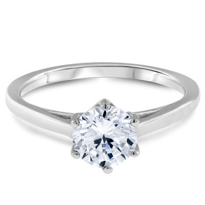 Simple Beauty Six Prong Solitaire Engagement Ring