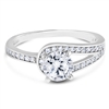 Curved Band Vintage Diamond Engagement Ring