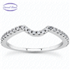 Curved Band Split Shank  Diamond Matching Band