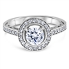 Floating Halo Diamond Engagement Ring F-G VS