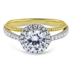 Split Shank Comfort Fit Halo Diamond Engagement Ring FG VS