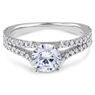 Split Shank Comfort Fit  Diamond Engagement Ring FG VS