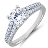 Split Shank Diamond Engagement Ring F-G VS