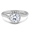 Curved Comfort Fit Diamond Engagement Ring