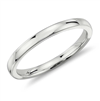 Platinum Halo Low Dome Comfort Fit Wedding Ring in Gold or Platinum  2mm