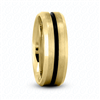 Fancy Carved Wedding Ring in Yellow Gold 7mm