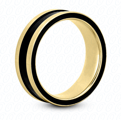 Fancy  Wedding Ring in Yellow Gold 6 mm