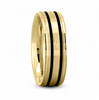 Fancy Carved Wedding Ring in Yellow Gold 7 mm