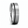 Fancy Carved Wedding Ring in White Gold 6mm