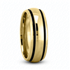 Fancy Carved Wedding Ring in Yellow Gold 7 mm Comfort Fit
