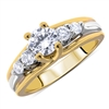 Floating 4-Prong Round Diamond Engagement Ring in 18k Yellow-White Two-Tone Gold 0.72 ct. tw.