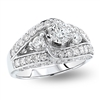Round Diamond Engagement Ring in 14k White Gold 1.70 ct. tw.