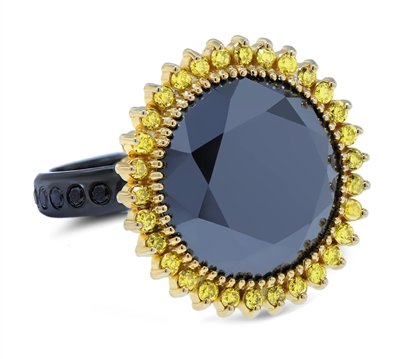 Black Star Diamond Engagement Ring 20TCW